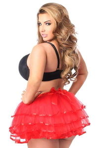 Red Ribbon Tutu By Daisy Corsets-Tutus-Daisy Corsets-Unspoken Fashion