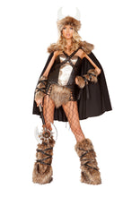 Load image into Gallery viewer, Roma 4892 - 4pc Viking Warrior Costume-Costumes-Roma-Small-Black/Beige-Unspoken Fashion