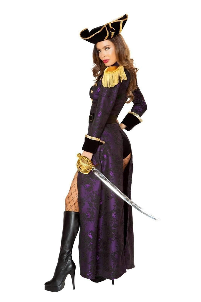 Roma Costume 10104 - 4pc Pirate Queen-Costumes-Roma-Unspoken Fashion