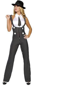 Roma Costume 4109 Gangsta Mama-Costumes-Roma-XS-Black/White-Unspoken Fashion