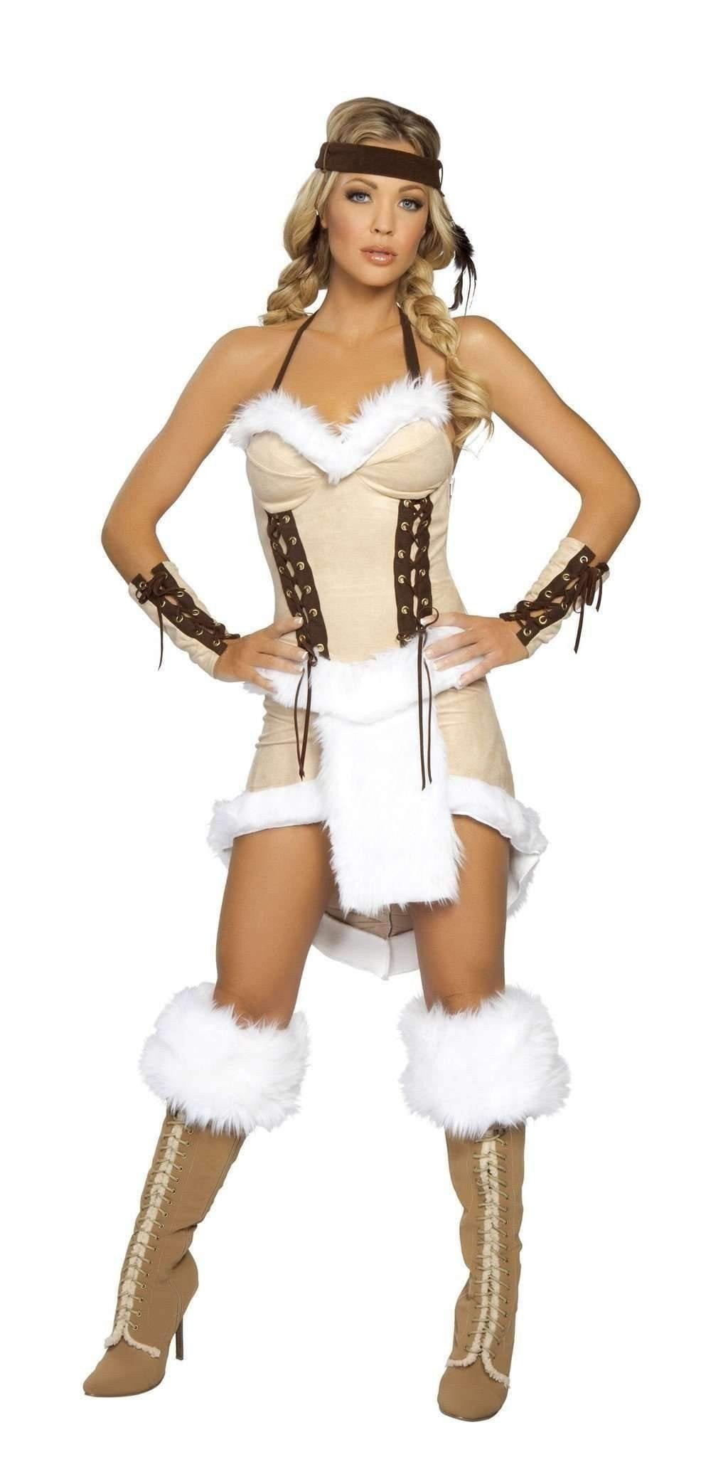 Roma Costume 4207 3pc Indian Maiden-Costumes-Roma-S/M-White-Unspoken Fashion