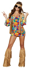 Roma Costume 4436 3Pc Hippie Hottie-Costumes-Roma-Multi/Brown-S/M-Unspoken Fashion
