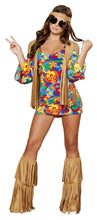 Load image into Gallery viewer, Roma Costume 4436 3Pc Hippie Hottie-Costumes-Roma-Multi/Brown-S/M-Unspoken Fashion