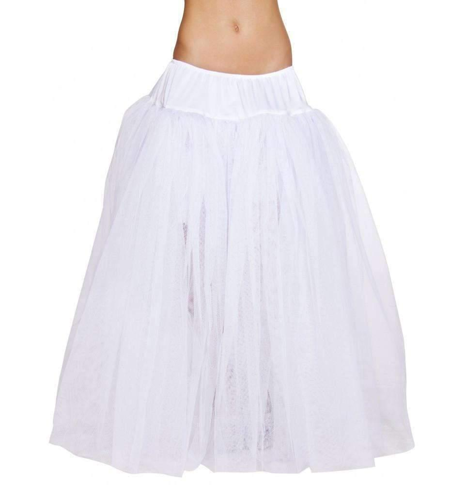 Roma Costume 4554 Full Length White Petticoat-Petticoats-Roma-White-O/S-Unspoken Fashion