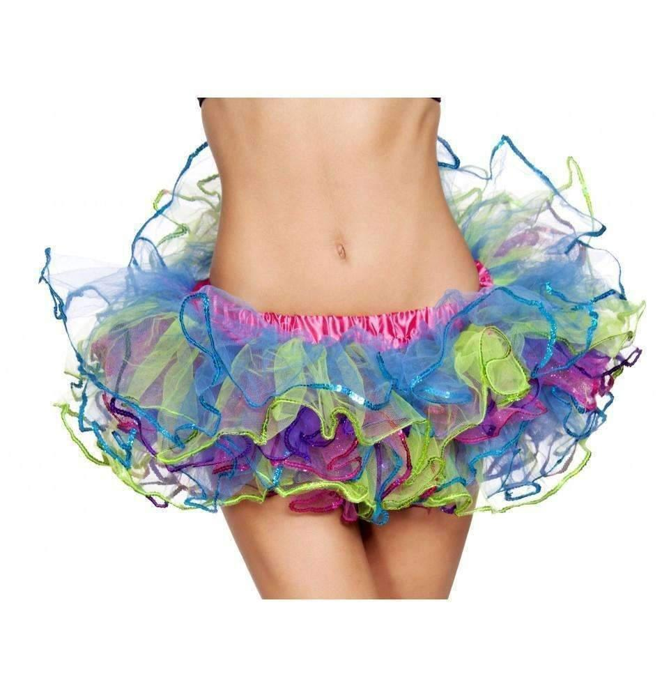 Roma Costume 4556 Rainbow With Sequin Trimmed Petticoat-Petticoats-Roma-Rainbow-O/S-Unspoken Fashion