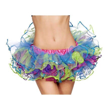 Load image into Gallery viewer, Roma Costume 4556 Rainbow With Sequin Trimmed Petticoat-Petticoats-Roma-Rainbow-O/S-Unspoken Fashion