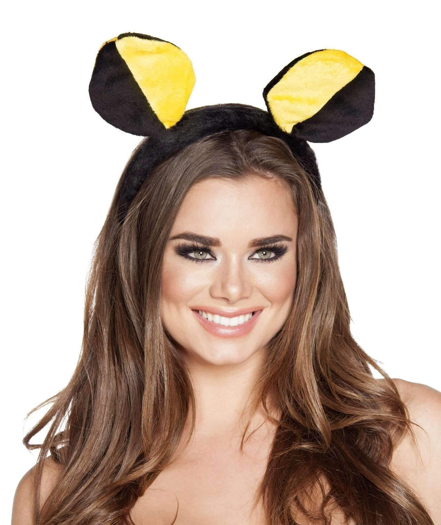 Roma Costume 4560 Yellow/Black Bumble Bee Head Piece-Costume Accessories-Roma-As Shown-One Size-Unspoken Fashion