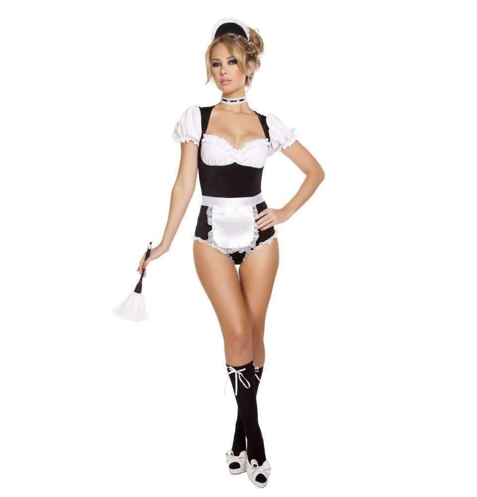 Roma Costume 4636 4Pc Foxy Cleaning Maiden-Costumes-Roma-Unspoken Fashion