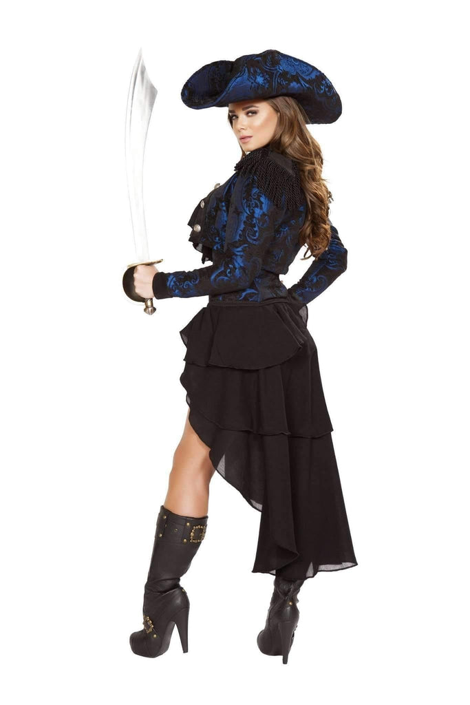 Roma Costume 4652 - 4Pc Captain Of The Night-Costumes-Roma-Unspoken Fashion