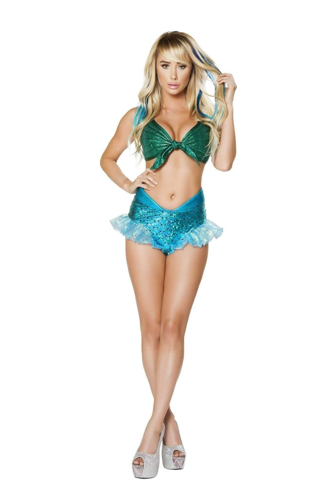 Roma Costume 4668 - 2Pc Mermaid Jewel-Costumes-Roma-Small-Blue/Green-Unspoken Fashion