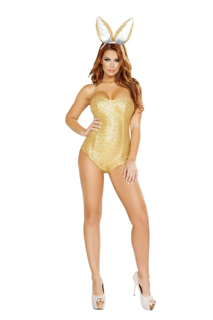 Roma Costume 4721 - 2Pc Golden Bunny-Costumes-Roma-Large-Gold-Unspoken Fashion