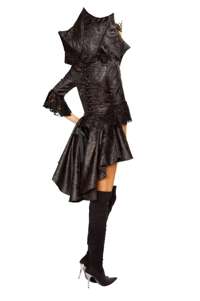Roma Costume 4785 - 4Pc Queen Of Darkness-Costumes-Roma-Unspoken Fashion
