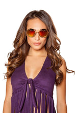 Load image into Gallery viewer, Roma Costume G108 - Hippie Glasses with Heart Lense Frame-Costume Accessories-Roma-One Size-As Shown-Unspoken Fashion