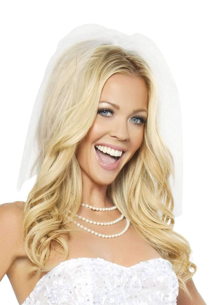 Roma Costume H4293 Bridal Veil-Costume Accessories-Roma-White-One Size-Unspoken Fashion