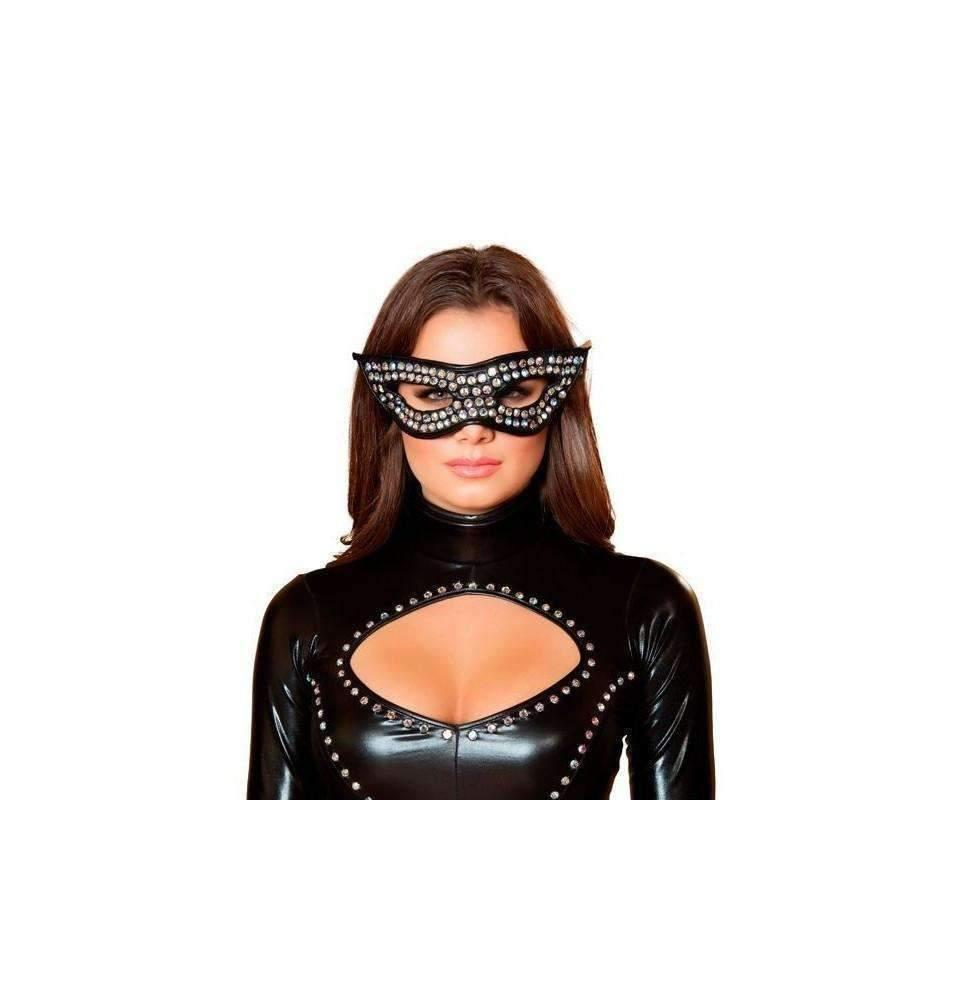 Roma Costume M4402 Rhinestone Mask-Costume Accessories-Roma-As Shown-One Size-Unspoken Fashion