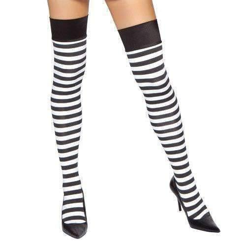 Roma Hosiery St4191 - Pinstripe Thigh Highs-Hosiery-Roma-One Size-Unspoken Fashion