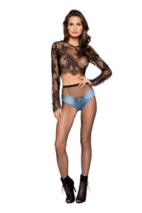 Roma Rave 3773 - Denim Jean Shorts with Belt Loop and Button Front Detail-Rave Bottoms-Roma-Unspoken Fashion