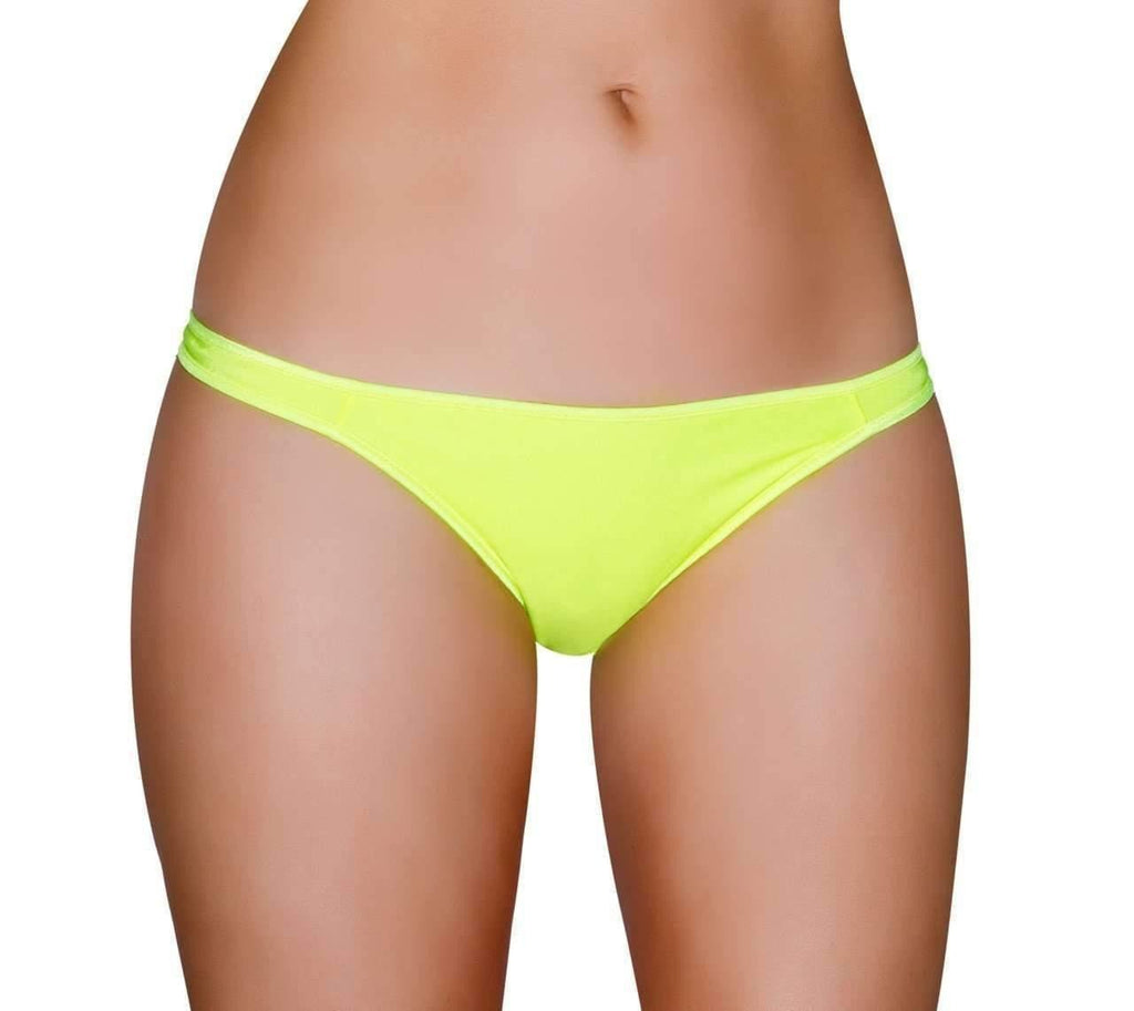 Roma Rave Half Back Bikini Bottom-Rave Bottoms-Roma-Yellow-One Size-Unspoken Fashion