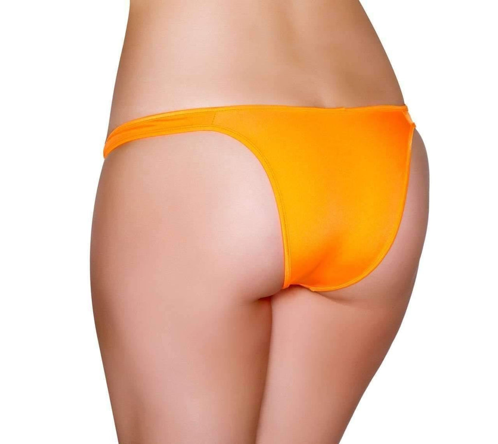 Roma Rave Half Back Bikini Bottom-Rave Bottoms-Roma-Orange-One Size-Unspoken Fashion