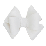 White Vinyl Triple Bow