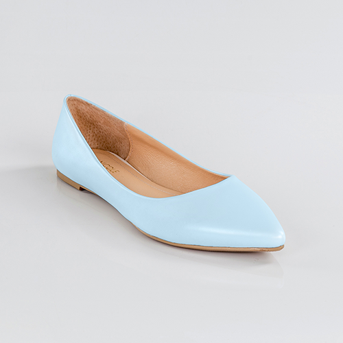 Something Blue Pointed Toe Flats