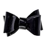 Black Vinyl Double Bow