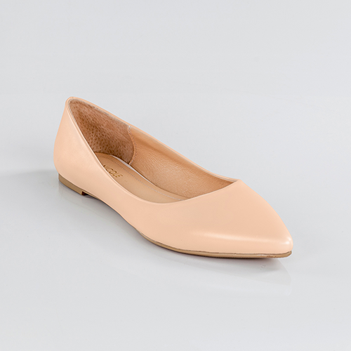 In The Nude Pointed Toe Flats