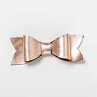 Rose Gold Leather Vintage Bow