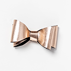 Rose Gold Double Leather Bow