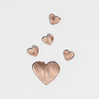 Rose Gold Hearts - Heels