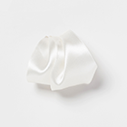 White Satin Pleated Puff