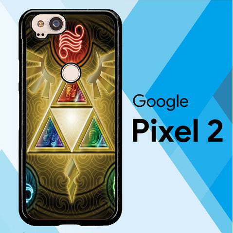 Zelda Triforce Element Z0152 Google Pixel 2 Case