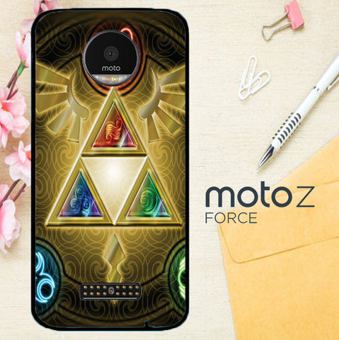 Zelda Triforce Element Z0152 Motorola Moto Z Force Case
