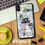 Arctic Monkeys Band Lyrics Quote Z0914 iPhone X Case