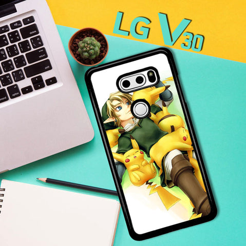 Zelda With Pikachu Pokemon Z1061 LG V30 Case