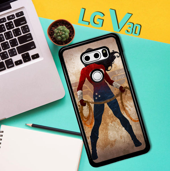 Wonder Woman Silhouette Y0546 LG V30 Case