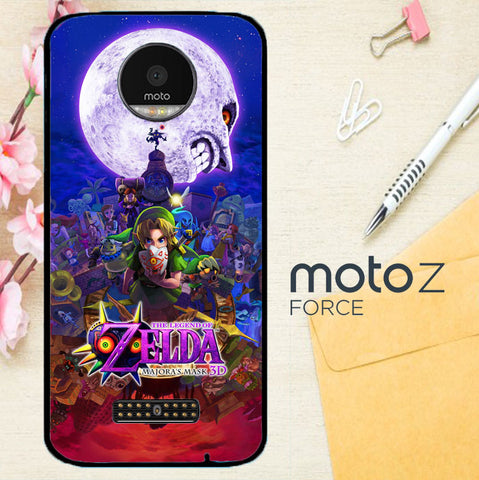 Zelda Majora Mask Y0591 Motorola Moto Z Force Case