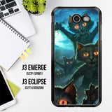 Zombie Cats Y1645 Samsung Galaxy J3 Emerge, J3 Eclipse , Amp Prime 2, Express Prime 2 2017 SM J327 Case