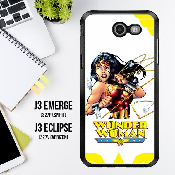 Wonder Woman R0219 Samsung Galaxy J3 Emerge, J3 Eclipse , Amp Prime 2, Express Prime 2 2017 SM J327 Case