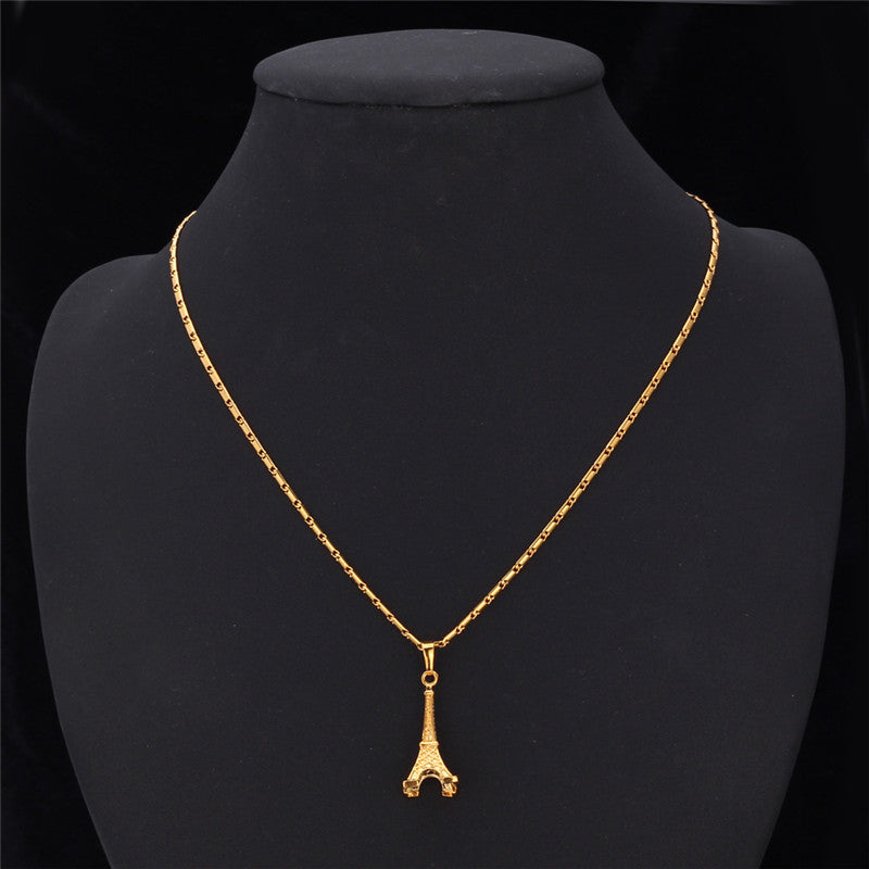 Eiffel tower pendant 18k real gold plated fashion jewelry romantic eiffel tower pendant 18k real gold plated fashion jewelry romantic necklaces for women mozeypictures Image collections