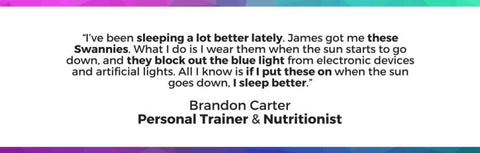 Brandon Carter Personal Trainer Uses Blue Light Blocking Glasses