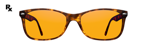 Night Swannies Custom Rx: Single Vision - Tortoise Shell
