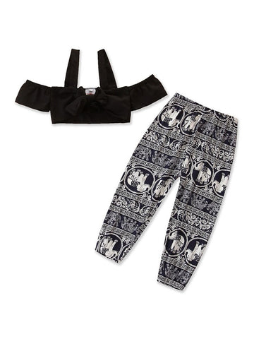 2pc Crop Top & Pants