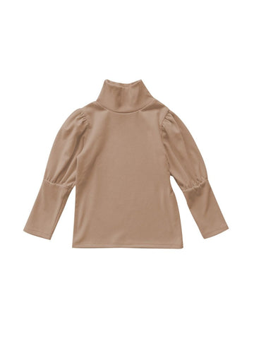 Puff Sleeve Highcollar Top