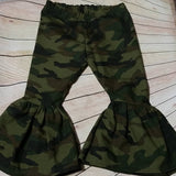 Camo Bell Bottom Pants
