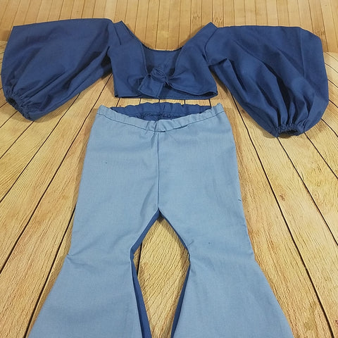 Blue Large Sleeves Set