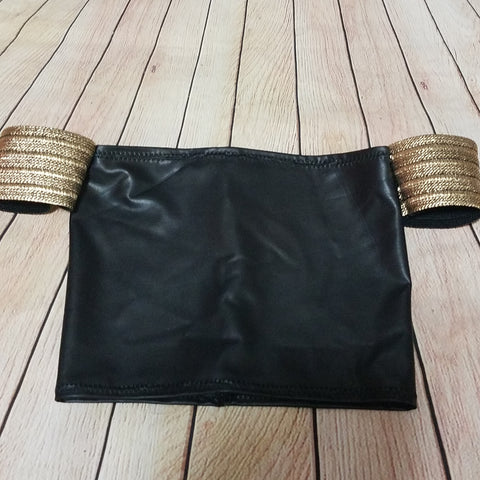 Gold Armband pleather Top