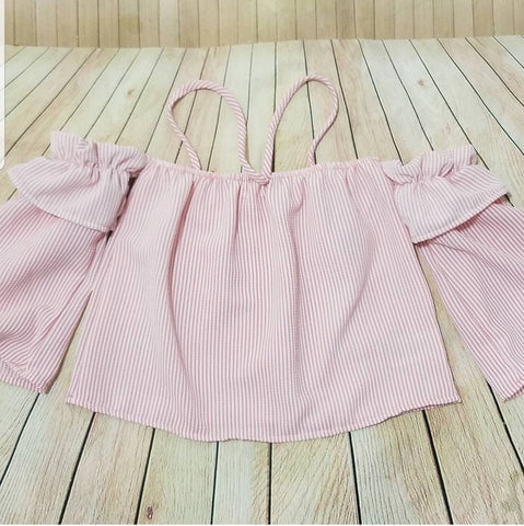 Pink Top Off the Shoulders sz 3-4t