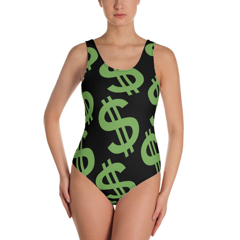 Money Sign One-Piece Swimsuit
