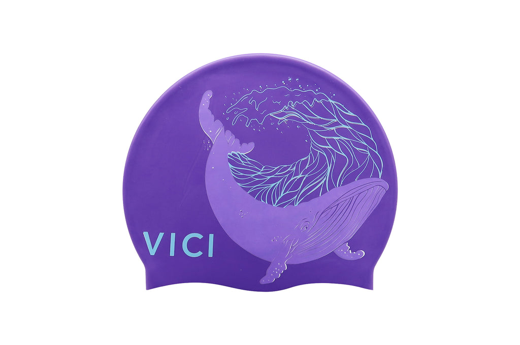 Silicone Patterned Cap – Purple Whale